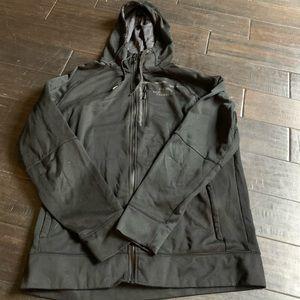 The North Face black full-zip hoodie sweatshirt